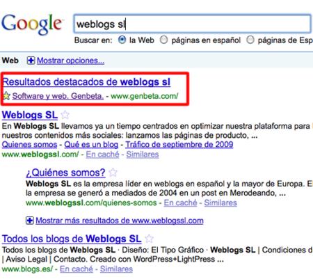 El buscador de Google añade estrellas para destacar resultados