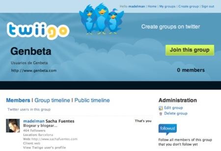 Twiigo, crea grupos de usuarios de Twitter