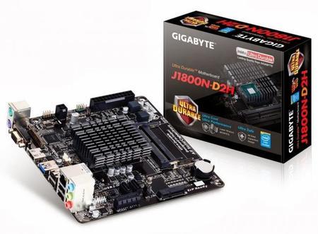 GIGABYTE lanza motherboard mini-ITX J1800N-D2H con SoC Intel Bay-Trail