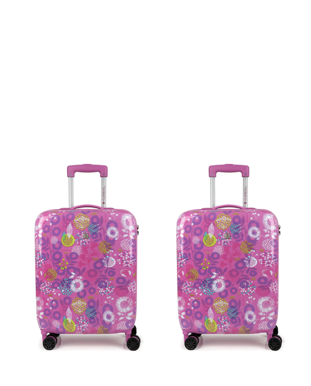Set de 2 maletas de cabina Gabol Linda rígidas estampadas con capacidad de 66 L
