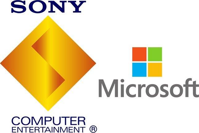 Sony Microsoft logos