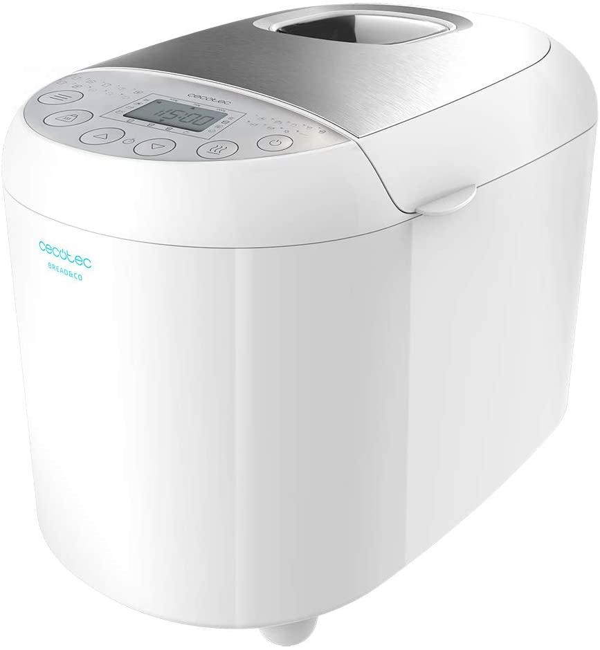 Cecotec Panificadora Bread&Co 1000 Delicious. 19 Programas, 1 Kg, 15 Horas programables, Cubeta Apta para lavavajillas, Recetario [Clase de eficiencia energética A+]