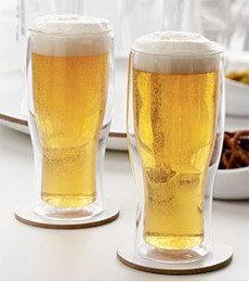 Vasos con doble cristal para mantener bien fría tu cerveza