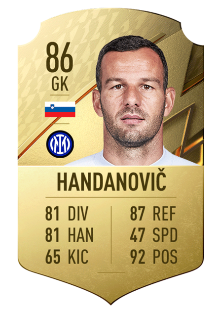 Handanovic fifa 22 mejores jugadores serie a