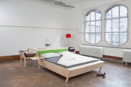 Bed'nTable cama y mesa en un mismo espacio