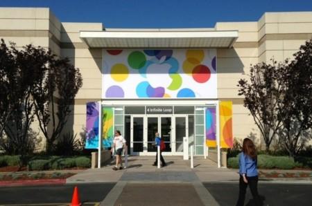 El auditorio de Apple en Cupertino ya está preparado para la keynote
