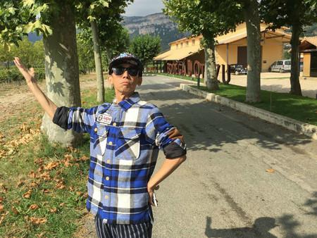 Actor chino en la Bodega navarra