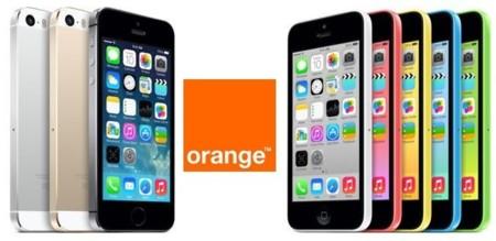 iPhone 5c y iPhone 5s: tarifas y precios con Orange