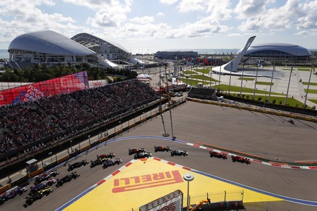Start Rusia F1 2019