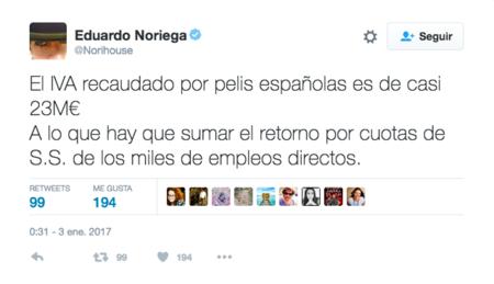 Tweet Eduardo Noriega Iva Espana
