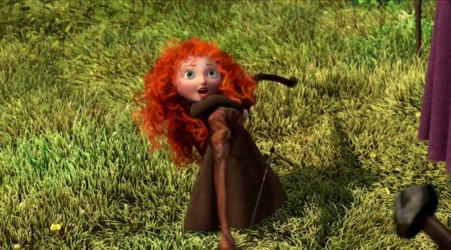 Merida como niña en 'Brave (Indomable)'