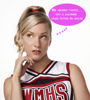 Heather Morris, otra a la que le hackean las domingas