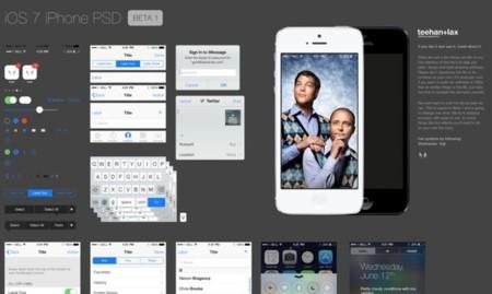 Nueva plantilla PSD con la interfaz de iOS 7, recursos para diseñadores