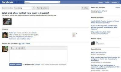 Facebook anuncia su servicio de preguntas y respuestas, Facebook Questions