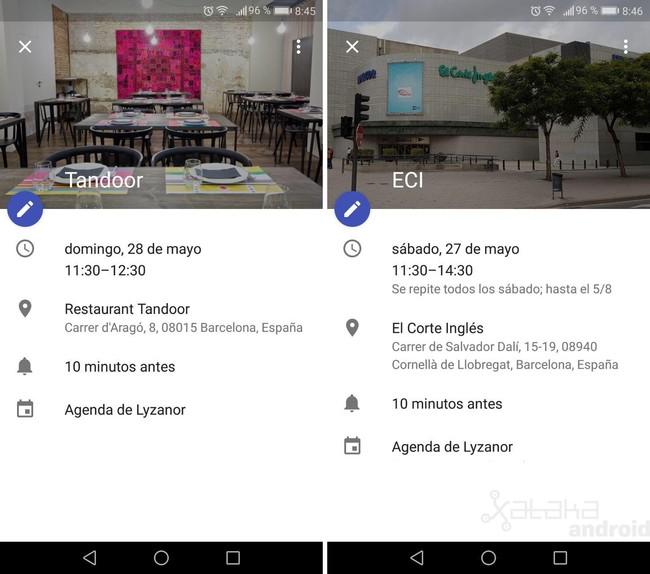Geolocalizacion Google® Calendar
