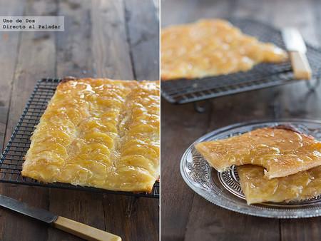 Receta de tarta de manzana fina y crujiente, fácil y resultona