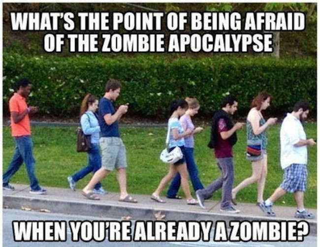 Zombies Cell Phones