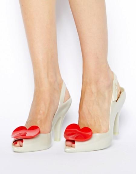 sandalias corazón
