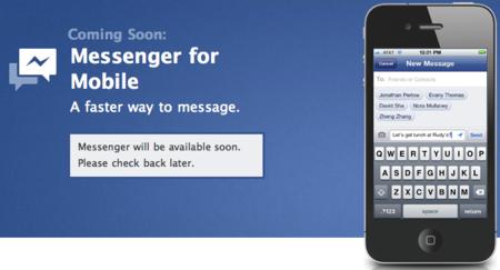 Facebook anuncia su aplicación de chat para móviles: Facebook Messenger
