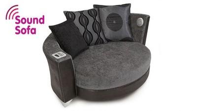 Cuddler Audio Sofa, el dock para smartphones hecho sillón