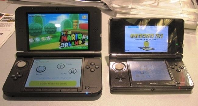3DS y 3DS XL comparación