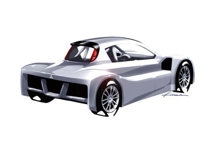 Boceto Mitsubishi i-MiEV Evolution