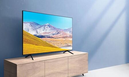 Llévate las 55 pulgadas 4K de la Samsung Crystal UHD 55TU8005 para tu salón más de 100 euros más baratas en Amazon que en otras tiendas