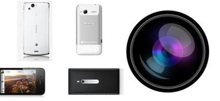 Cuatro teléfonos con cámara de fotos (grabación de vídeo)