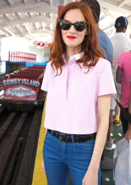 taylor zara camisa rosa