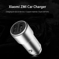Oferta Flash: cargador de coche Xiaomi ZMI, con dos puertos USB y carga rápida, por sólo 8,88 euros