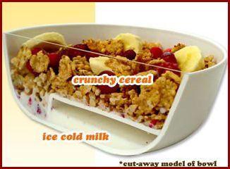 Bol para mantener el cereal crujiente
