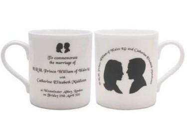 Complementos decorativos con las caras del Príncipe Guillermo y Kate Middleton