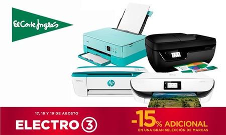15 impresoras Epson y HP rebajadas en Electro 3 de El Corte Inglés