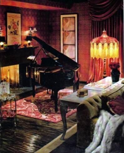 Otra parte del salón de Christina Aguilera.