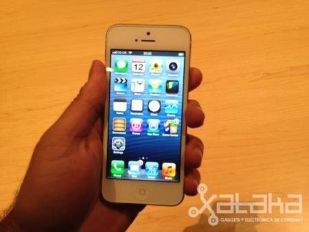 nuevo iphone 5 toma de contacto pantalla
