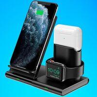 Esta base de carga de Seneo te ahorra cables para tu iPhone, Apple Watch y AirPods y sólo cuesta 20 euros con este cupón