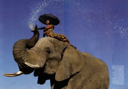 El verdadero print animal, editorial con Naomi Campbell en África II