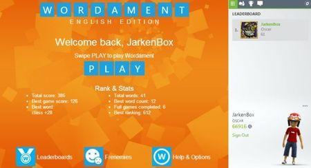 'Wordament' llega en fase beta a navegadores, y con logros