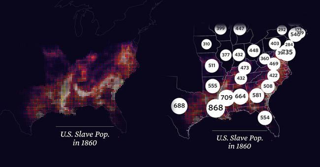 La relación entre la esclavitud y la masiva población presa de Estados Unidos, en este brillante mapa