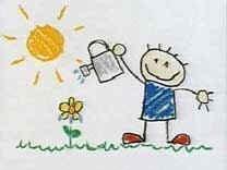 Decorar la habitación del niño con sus propios dibujos