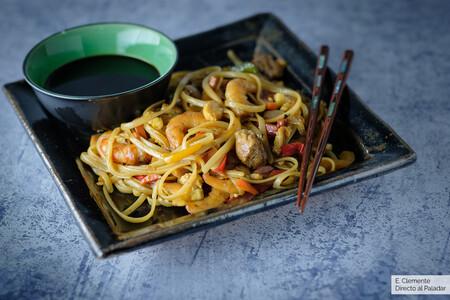Noodles Con Curry Al Estilo Singapur
