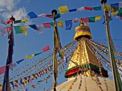 Nepal: La estupa de Bodnath en Kathmandú