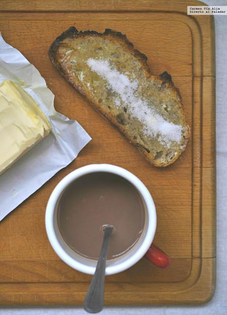 Pan Con Mantequilla Y Azucar