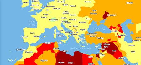 ¿Tienes pensado viajar en 2019? Este mapa identifica los países más peligrosos para hacerlo
