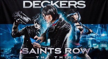 'Saints Row: The Third' homenajeando a TRON gracias a los Deckers, un grupo de cibercriminales