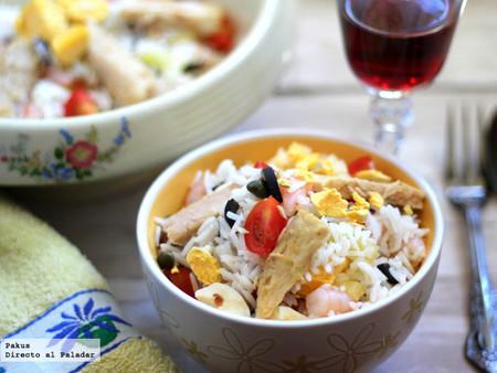 Ensalada veraniega de arroz basmati