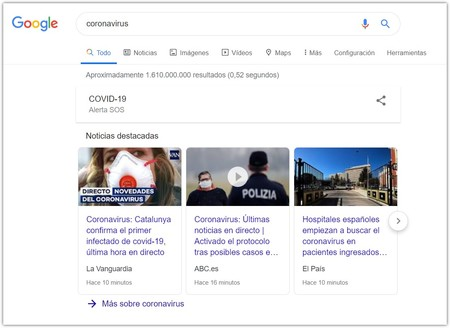 Coronavirus Buscar Con Google Google Chrome 20
