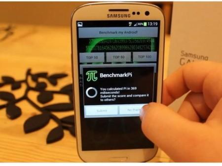 Un Samsung se enfrenta a BenchmarkPi