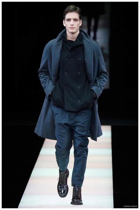 Giorgio Armani Menswear Fall Winter 2015 Collection Milan Fashion Week 025