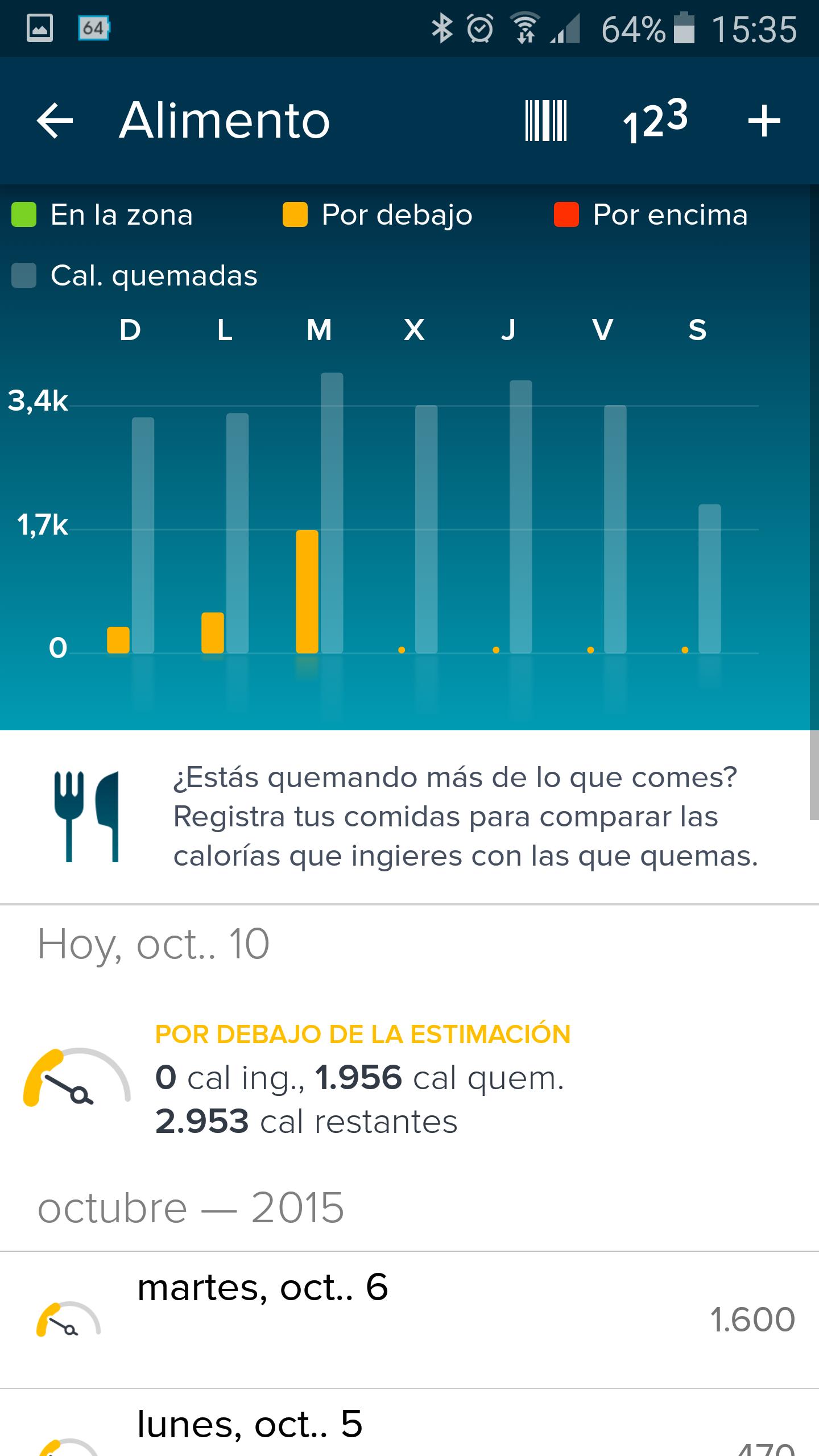 Foto de Aplicación Fitbit en smartphone (11/19)
